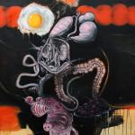 7-Gluttony, 2013, acrylic/canvas, 210x150 cm.