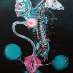 7-Lust, 2013, acrylic/canvas, 210x150 cm.