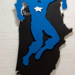 American Crucifixion, 2006, lasercut metal & paint, 250x150x15 cm - Ed. of 3