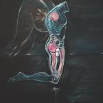 Angel (for Jeff Buckley), 1995-2014, acrylic & pigments/canvas, 285x195cm.