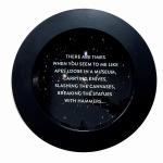 Newton Quotes (Apes), 2014, digital print  & resin /aluminium, 50cm.