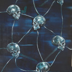 Ascendance (Europa & The Pirates), 2013, acrylic & pigments/canvas, 270x190 cm.