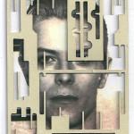 Decoder-Bowie, collage on digital print, 18x13cm, 2016
