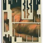 Decoder-Christ, collage on digital print, 18x13cm, 2016