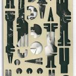 Decoder-Frances, collage on digital print, 18x13cm, 2016