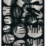 Decoder-Tate, collage on digital print, 18x13cm, 2016