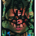 Decoder-TylerDurden, collage on digital print, 18x13cm, 2016