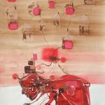 Casa Linda, ink/paper, 150x100 cm.