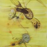 Bee Charmer, ink/paper, 140x100 cm.