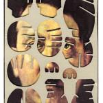 Decoder-Adolf, collage on digital print, 18x13cm, 2014