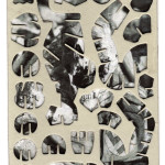 Decoder-Nazi, collage on digital print 18x13cm, 2014