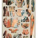 Decoder-Picasso, collage on digital print, 18x13cm, 2014