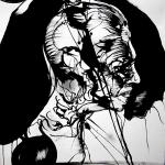 Doppelganger, ink/paper, 150x100 cm.