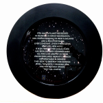 Newton Quotes (Earth), 2014, digital print  & resin /aluminium, 50cm.