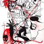 MASH12, 2008, 150x100cm, ink/paper.