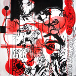 MASH32, 2008, 150x100cm, ink/paper.