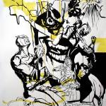 MASH3, 2008, 150x100cm, ink/paper.
