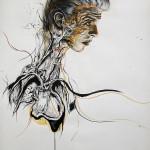 Newton 1, 2012, ink/paper, 150x100cm