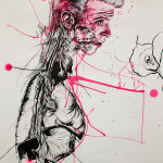 Newton 2, 2012, ink/paper, 150x100cm
