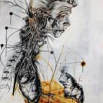 Newton 3, 2012, ink/paper, 150x100cm