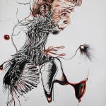 Newton 4, 2012, ink/paper, 150x100cm