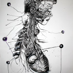 Newton 6, 2012, ink/paper, 150x100cm