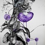 Newton 7, 2012, ink/paper, 150x100cm
