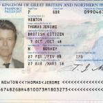 Newton's valid passport.