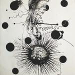 Newton Study 3, 2013, ink/paper, 200x150 cm.