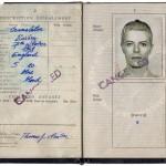 Newton's U.K. Passport 1976
