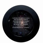Newton Quotes (Riddle), 2014, digital print  & resin /aluminium, 50cm.