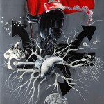 Schwartzkommando, 2012, acrylic on canvas, 270X190cm.
