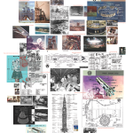 Spacescape Info Sheet , digital print /paper, 80x120 cm.