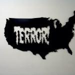 TerrorUSA, 2007, lasercut metal & paint, 150x100 cm- Ed. of 8