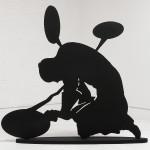 The Big Beat, 2006, lasercut wood & paint -250x250x40 cm- Ed. of 3