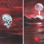 The Day-A, 2014, acrylic/canvas, diptych-41x66cm.