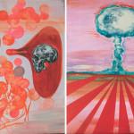 The Day-B, 2014, acrylic/canvas, diptych-.