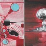 The Day-G, 2014, acrylic/canvas, diptych-41x66cm.