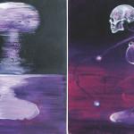The Day-Q, 2014, acrylic/canvas, diptych-41x66cm.