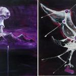 The Day-R, 2014, acrylic/canvas, diptych-41x66cm.