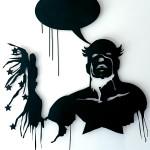 The Dream, 2006,  lasercut metal & paint, 100x100 cm - Ed. of 8