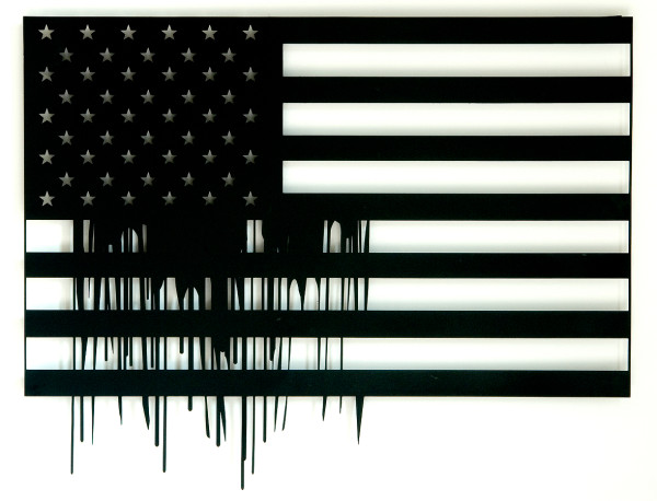 The Flag, 2006, lasercut metal & paint, 100x100 cm- Ed. of 8