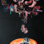 Weightloss, 2014, acrylic/canvas, 285x195 cm.
